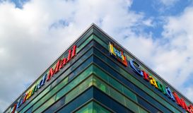 Grand Mall Varna is modern large shopping and entertainment center stock photo