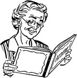 Grand-maman avec l'album photos illustration libre de droits