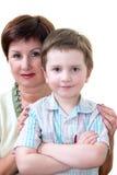 Grand-maman avec le fils Image libre de droits