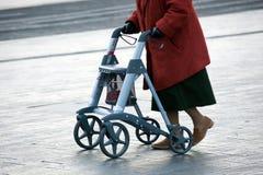 Grand-maman avec le marcheur Photographie stock libre de droits
