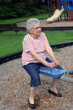 Grand-maman de balançoir Photographie stock