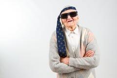 Grand-maman de Bohème avec un lien sur son front Images libres de droits