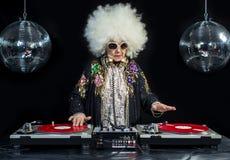 Grand-maman du DJ Photographie stock
