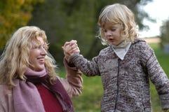 Grand-maman et enfant Image stock