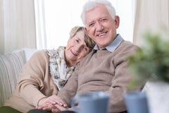 Grand-maman et grand-papa heureux images stock