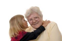 Grand-maman et petite-fille Photographie stock libre de droits