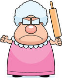 Grand-maman fâchée illustration stock
