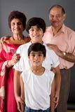 Grand-maman, grand-papa et nous Images libres de droits