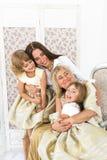 Grand-maman, mère et filles Photo stock