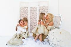 Grand-maman, mère et filles Photographie stock