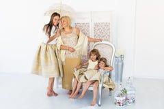 Grand-maman, mère et filles Images stock