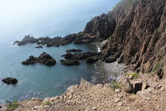 Grand Manan Island. With scenic cliffs and water Royalty Free Stock Photography