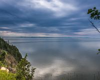 Bay of Fundy From Grand Manan. Grand manan Island a place of beauty especially when the Bay of Fundy is this calm Stock Photos