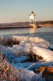Grand Marais Light Lake Superior Cook County Minnesota USA Royalty Free Stock Photography