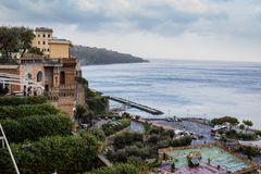 Grand marina in Sorrento, Italy Stock Image