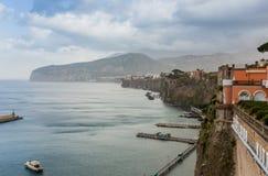 Grand marina in Sorrento, Italy Royalty Free Stock Photos