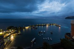 Grand marina in Sorrento, Italy Stock Image