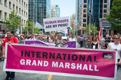Grand Marshal Toronto Pride Parade Stock Photography