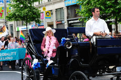 The grand marshall of Dublin Pride Parade 2010. Royalty Free Stock Photo