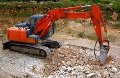 Grand marteau piqueur hydraulique Image libre de droits