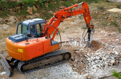 Grand marteau piqueur hydraulique Photo stock