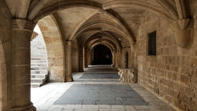 Grand Master of the Knights of Rhodes. RHODES, GREECE - Palace of the Grand Master of the Knights of Rhodes also known as the Kastello is a medieval castle in Royalty Free Stock Photography