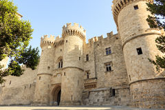Grand Master Palace in Rhodes, Greece. Stock Photos