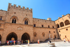 Grand Master Palace in Rhodes, Greece. Royalty Free Stock Image