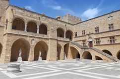 Grand Master palace at Rhodes island in Greece Royalty Free Stock Photos