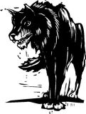 Grand mauvais loup illustration stock