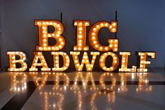Grand mauvais Wolf Books à Dubaï images libres de droits