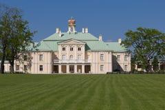 Grand Menshikov Palace facade. St.Petersburg area, Lomonosov, Oranienbaum, Russian Federation Royalty Free Stock Photos