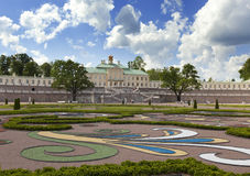 Grand Menshikov Palace and landscape park on June 13, 2013 in Oranienbaum, Russia. Stock Photography