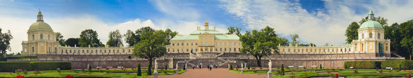 Grand Menshikov Palace in Oranienbaum. LOMONOSOV, RUSSIA - AUGUST 20, 2014: Panorama of the Grand Menshikov Palace, the Palace and Park ensemble of Oranienbaum Royalty Free Stock Image