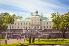 Grand Menshikov Palace in Oranienbaum. LOMONOSOV, RUSSIA - AUGUST 20, 2014: Grand Menshikov Palace, the Palace and Park ensemble of Oranienbaum, Russia Stock Images