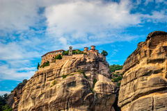 Grand Meteora Monastery, founded in the 1300s AD,  Stock Photo