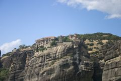 Grand Meteora panorama Stock Photos