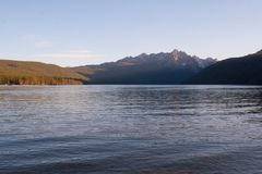 Sawtooth Mountains at Redfish Lake, Idaho stock image