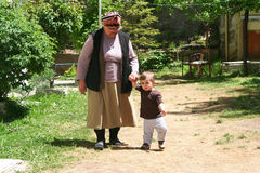 Grand mom and son Royalty Free Stock Photography