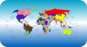 Grand monde Image libre de droits