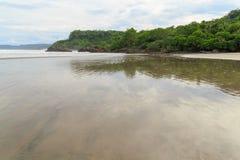 Grand montezuma ouvert de plage de sable Photo stock