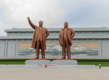 Grand Monument  on Mansu Hill in Pyongyang. Royalty Free Stock Photography