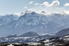 Grand Morgon peak Winter morning. Hautes Alpes, French Alps, Fra Royalty Free Stock Photography