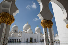 Grand mosque. In Abu Dhabi Stock Images