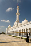Grand mosque. In Abu Dhabi Stock Photography