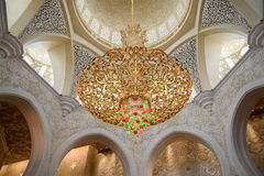 Grand mosque. In Abu Dhabi Royalty Free Stock Photo