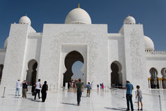 Grand mosque. In Abu Dhabi Stock Image