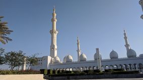 Grand mosque at Abu Dhabi royalty free stock photography