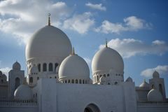 Grand mosque abu dhabi Stock Photography