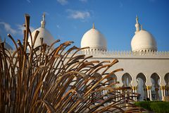 Grand mosque abu dhabi Royalty Free Stock Photos